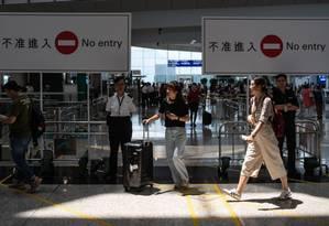 Após medida, operações do aeroporto voltaram a funcionar dentro da normalidade Foto: PHILIP FONG / AFP