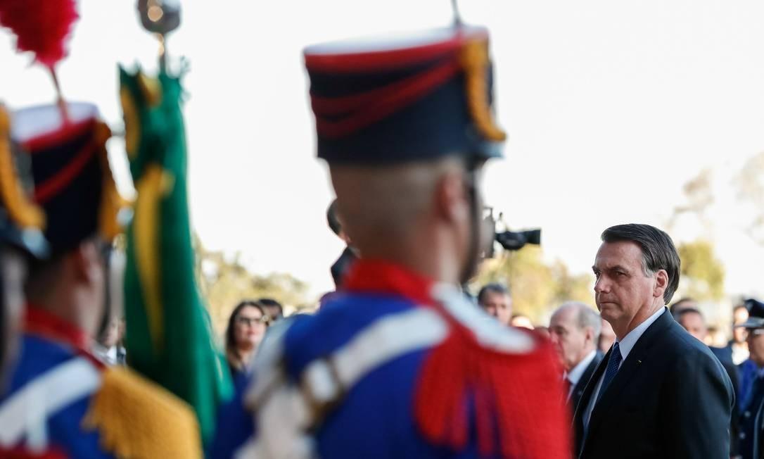 Em Parnaíba, Bolsonaro inaugurou escola erguida pelo Sesc (Serviço Social do Comércio) que segue modelo de ensino militarizado, uma das principais bandeiras do presidente no campo da educação. A escola tem o nome do presidente Foto: Alan Santos / PR