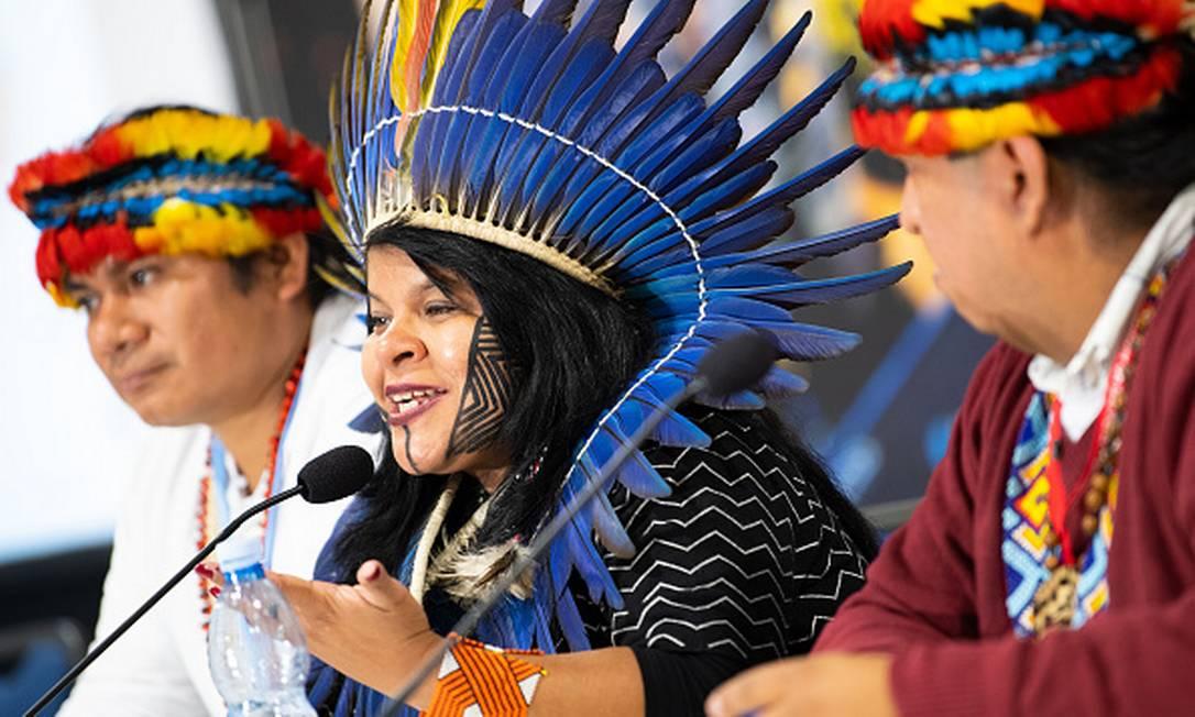 Sonia Guajajara, coordenadora executiva da Articulação dos Povos Indígenas do Brasil Foto: Monika Skolimowska / Getty Images