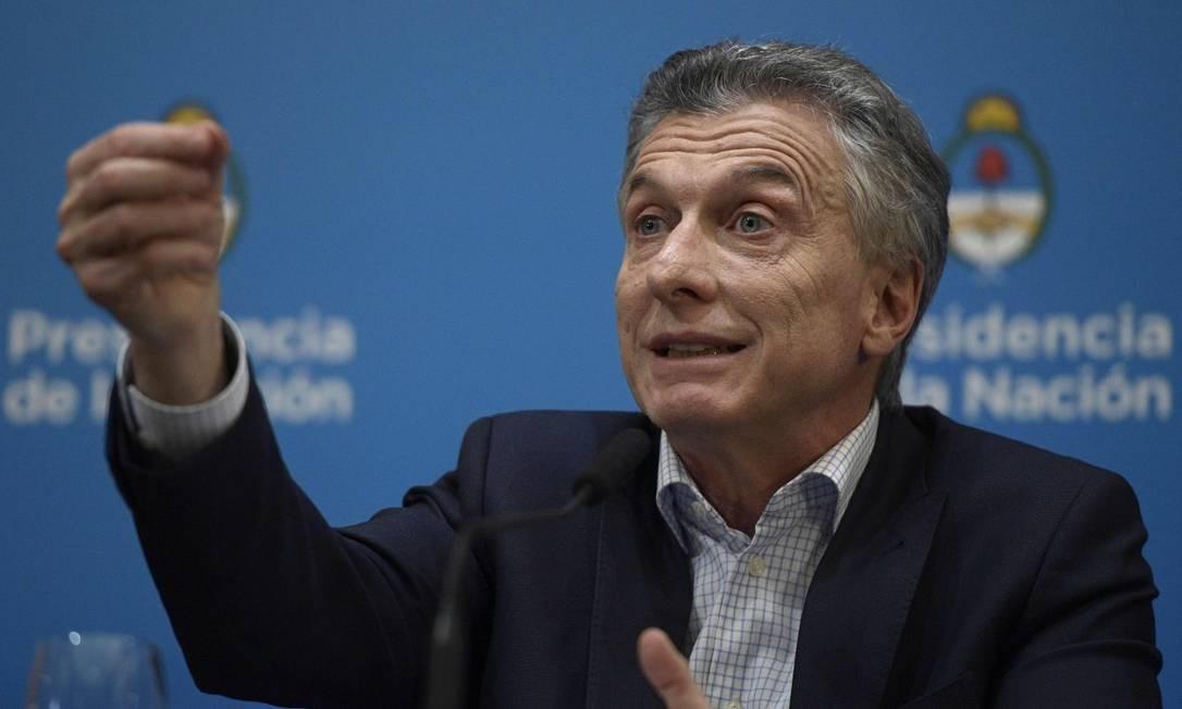 Maurício Macri pediu ao FMI que reveja os prazos de vencimento de empréstimo, que começam em 2021. Foto: JUAN MABROMATA / AFP / 12-08-2019