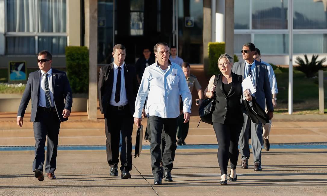 O presidente Jair Bolsonaro, durante visita ao Piauí Foto: Alan Santos/Presidência