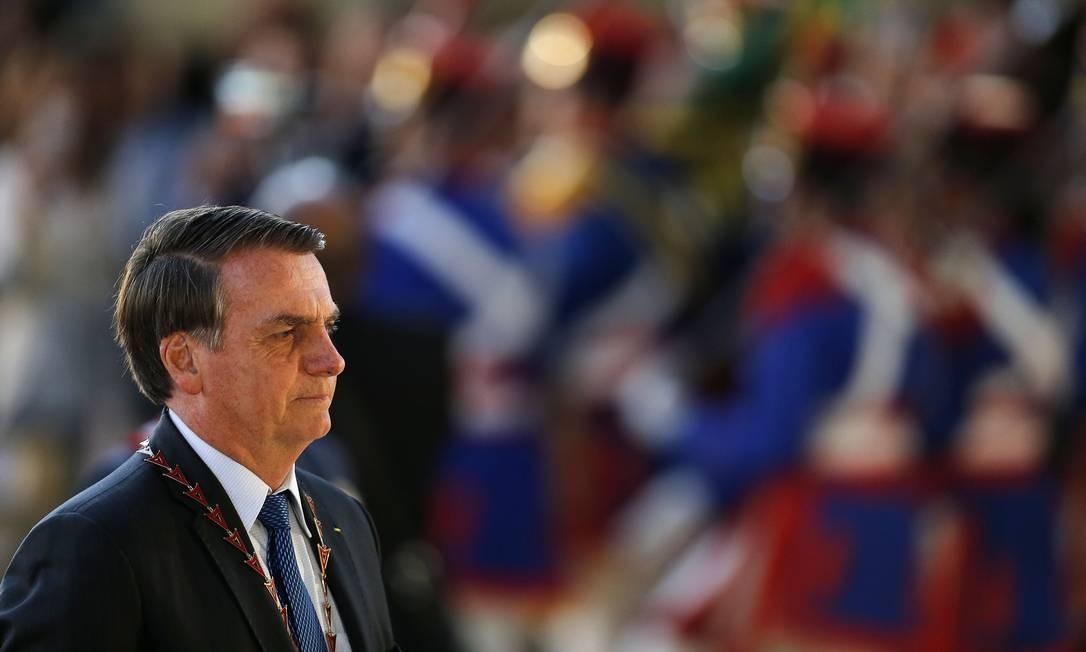 O presidente Jair Bolsonaro, durante cerimônia no Tribunal Superior do Trabalho Foto: Jorge William/Agência O Globo/13-08-2019