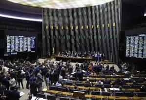 Os deputados estão votando os destaques da MP da liberdade econômica Foto: Jorge William / Agência O Globo