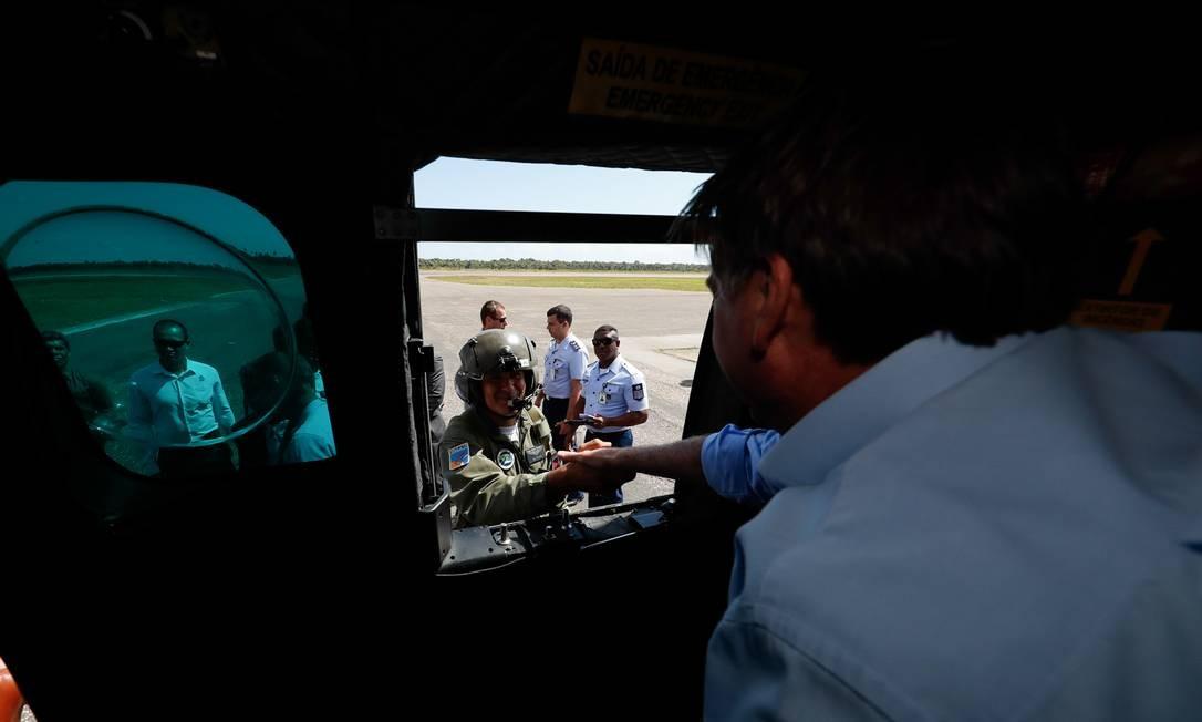 O presidente Jair Bolsonaro voltou a atacar o candidato a presidente da Argentina, Alberto Fernández, e a vice, Cristina Kirchner. A declaração foi feita na Parnaíba, cidade do litoral do Piauí Foto: Alan Santos / PR