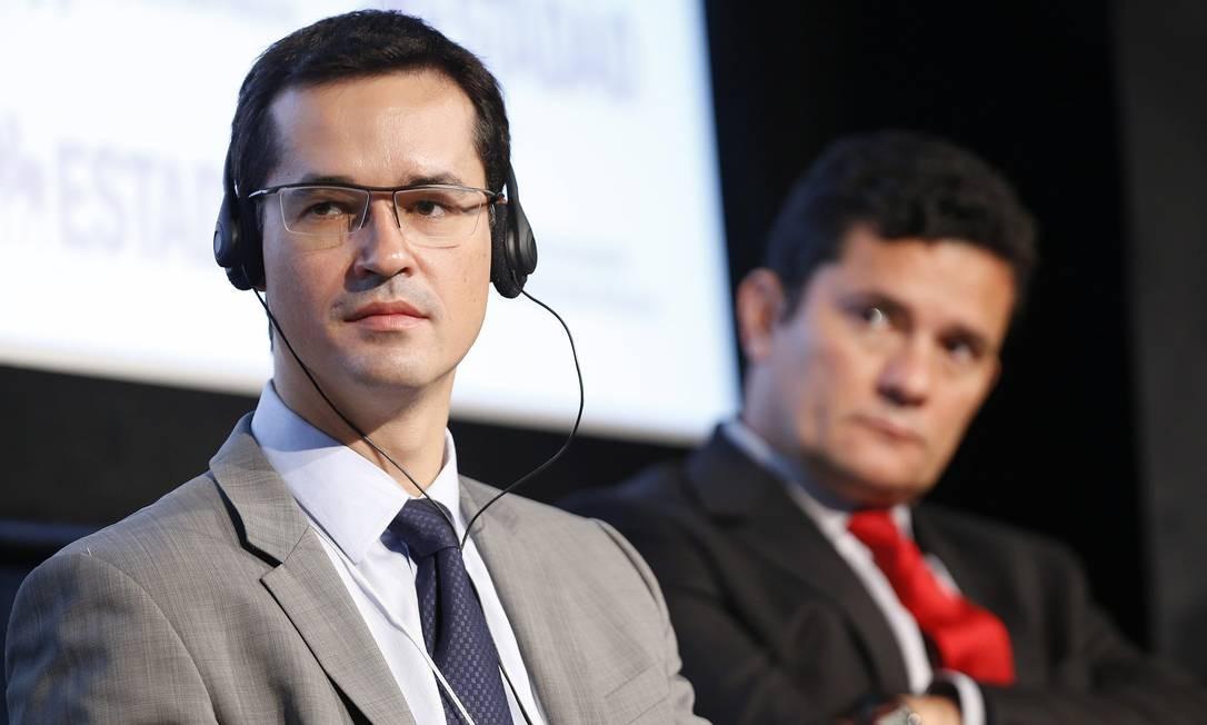Deltan Dallagnol e Sergio Moro em 2017 Foto: Edilson Dantas / Agência O Globo