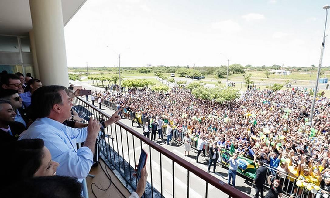 Bolsonaro participa de evento em Parnaíba, no Piauí Foto: Alan Santos/PR / Divulgação/ Presidência