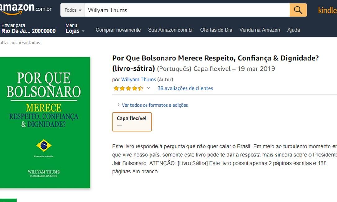 Anúncio ganhou aviso de que livro tem páginas em branco após a repercussão Foto: Reprodução