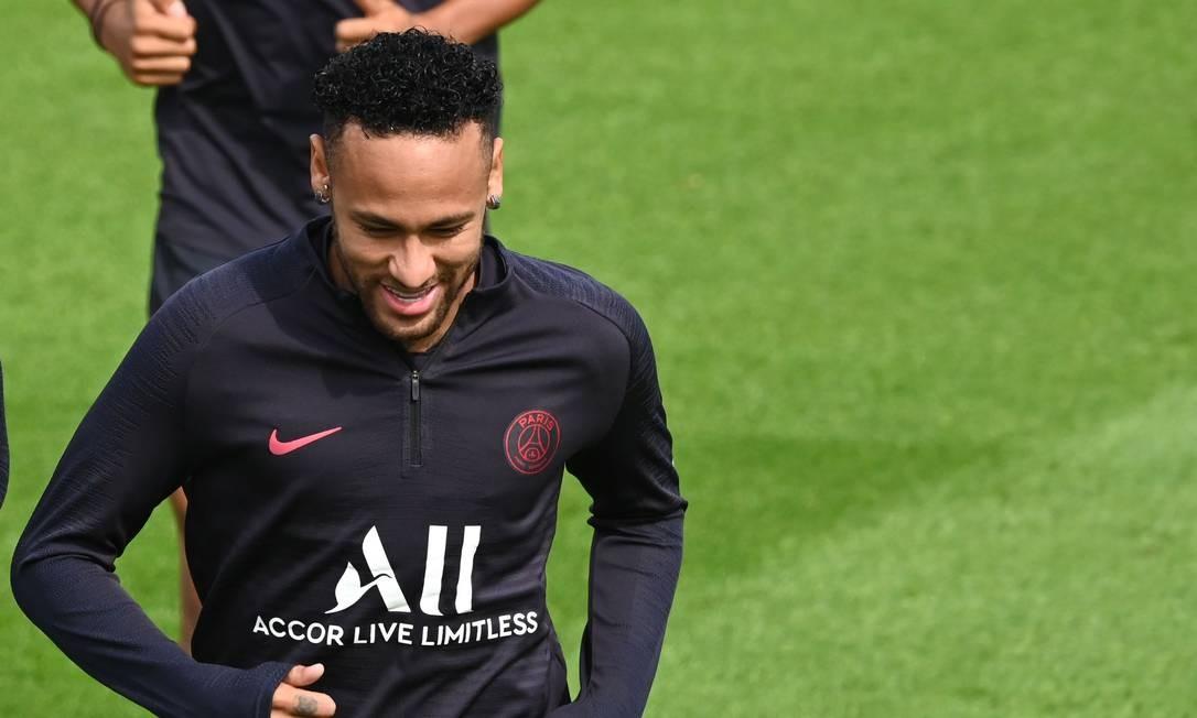 Neymar treina em separado no PSG Foto: DOMINIQUE FAGET / AFP