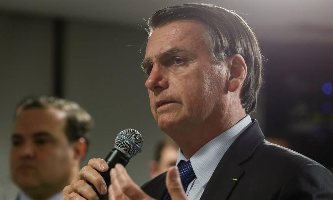O presidente Jair Bolsonaro falou sobre a Ancine Foto: Carolina Antunes/PR