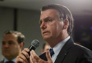 O presidente Jair Bolsonaro falou sobre a Agência Nacional de Cinema (Ancine) Foto: Carolina Antunes/PR