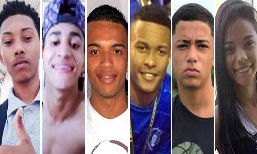 Seis jovens foram mortos nos últimos cinco dias no estado do RJ vítimas de bala perdida Foto: Criação de Arte