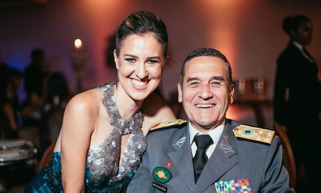 Adriana Villas Bôas e o pai, Eduardo Villas Boâs Foto: Reprodução/Instagram