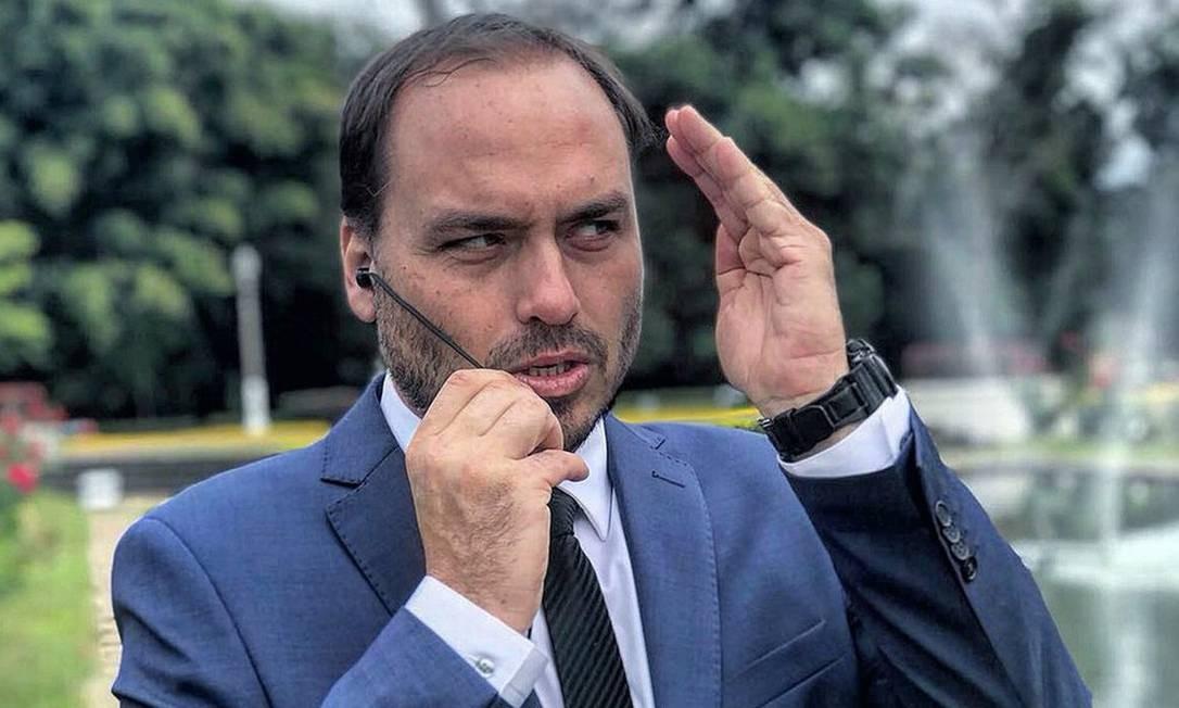 O vereador do Rio Carlos Bolsonaro Foto: reprodução/redes sociais