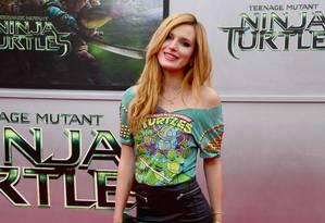 Bella Thorne vai fazer sua estreia na direção em produção para o Pornhub Foto: Frazer Harrison / AFP