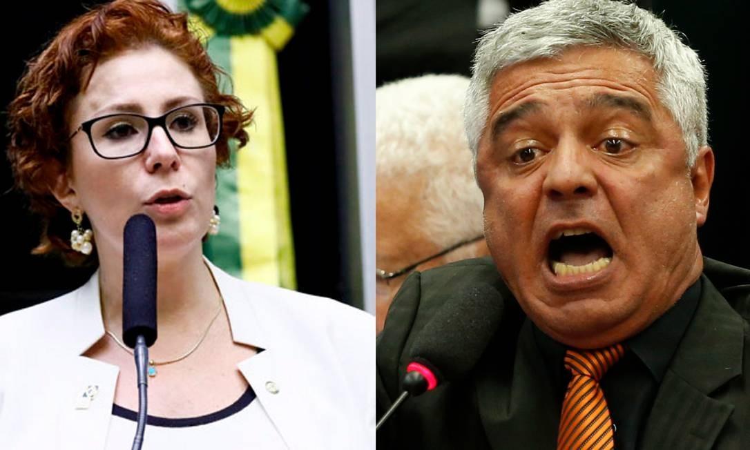 A deputada Carla Zambelli e o senador Major Olímpio, eleitos pelo PSL paulista