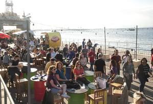 Rio Gastronomia acontece nos armazéns 3 e 4 do Píer Mauá Foto: Adriana Lorete / Agência O Globo