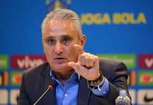Tite anuncia convocados para amistosos nesta sexta-feira, às 10h Foto: SERGIO MORAES / Reuters