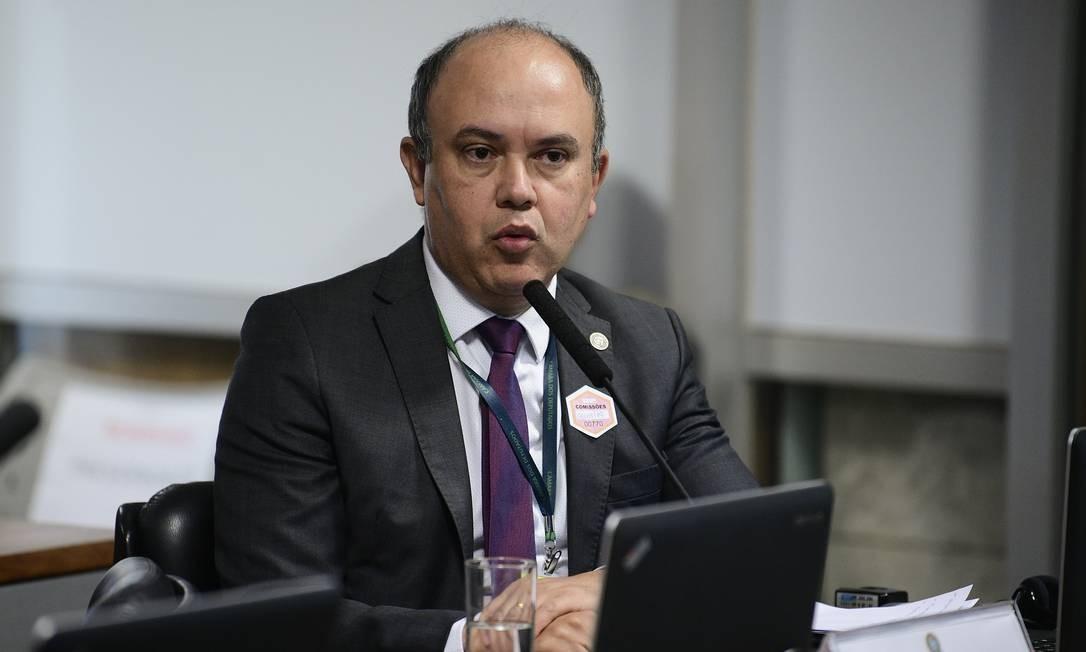 O presidente da Associação Nacional dos Delegados de Polícia Federal (ADPF), Edvandir Paiva. Foto: Pedro França/Agência Senado