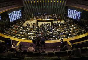 O plenário da Câmara dos Deputados em dia de votação Foto: Daniel Marenco / Agência O Globo