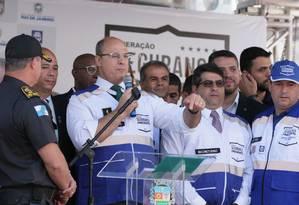 Witzel: 'Esses cadáveres não estão no meu colo, estão no colo de vocês' Foto: Cléber Júnior / Agência O Globo