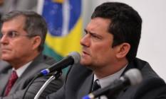 O ministro Sergio Moro em evento no Ministério da Justiça Foto: IsaacAmorim/AG.MJ