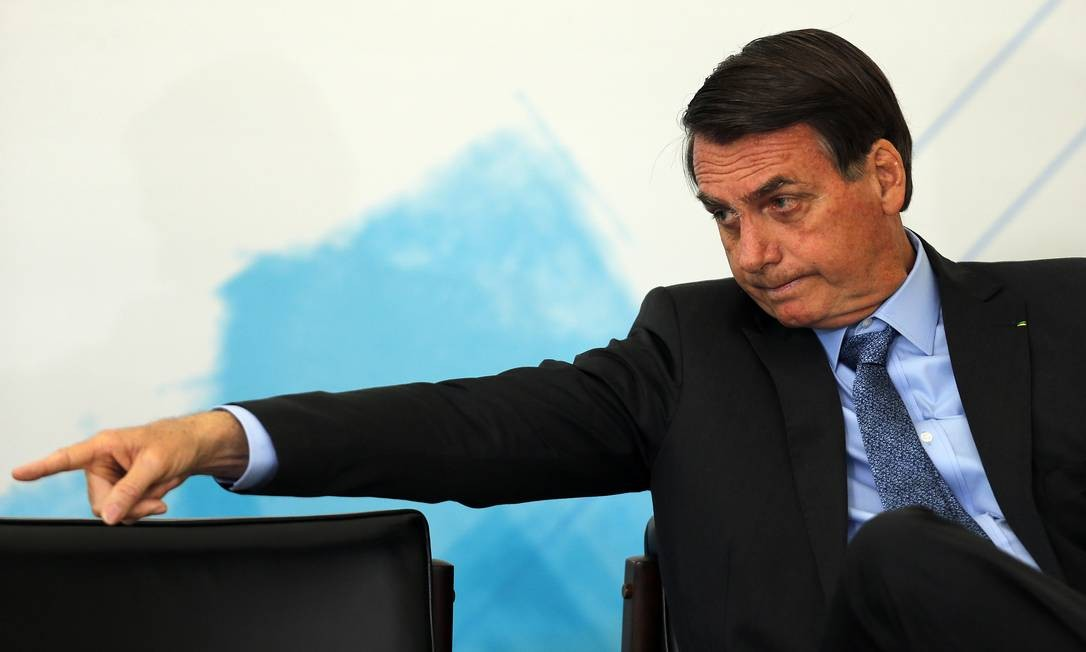 Bolsonaro durante cerimônia em homenagem ao Dia Internacional da Juventude. Foto: Jorge William / Agência O Globo