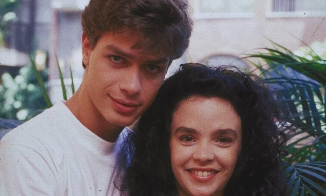 Fabio Assunção com Luciana Braga em 'Meu bem, meu mal' (1990). A novela marcou a estreia do ator na TV Globo, aos 19 anos Foto: Divulgação