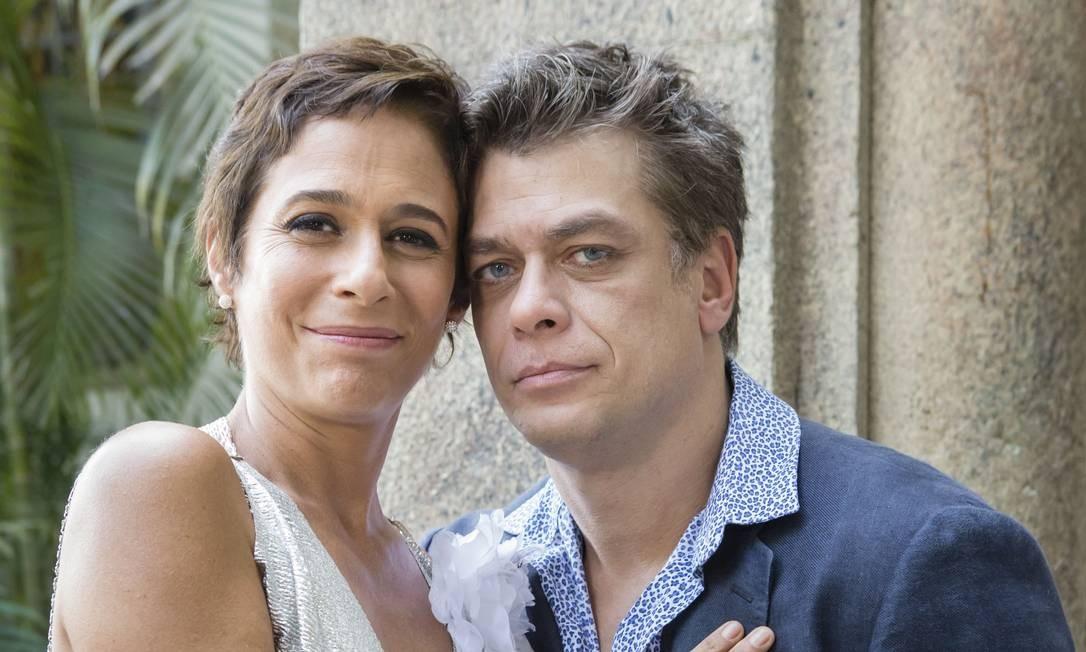 """Fazendo par com Andrea Beltrão na série """"Tapas & beijos"""" Foto: Tata Barreto / Divulgação/TV Globo"""