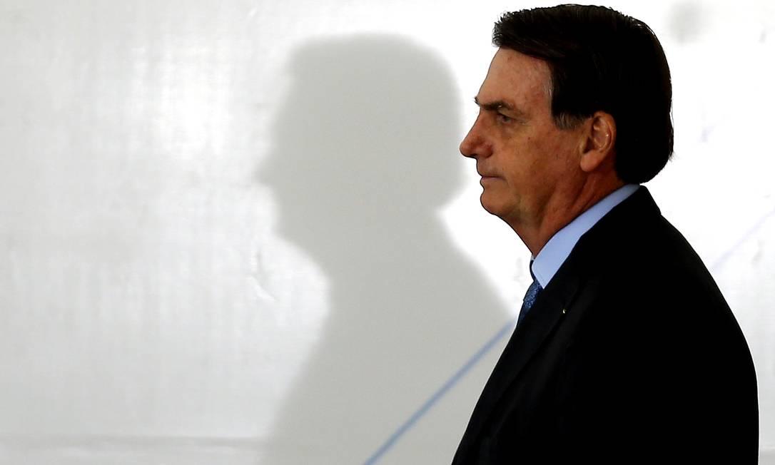 O presidente afirmou que o 'PT botou no Brasil cerca de 10 mil fantasiados' Foto: Jorge William / Agência O Globo