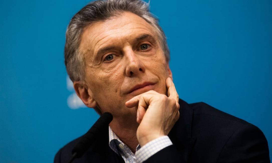 O presidente da Argentina, Mauricio Macri Foto: Ricardo Ceppi / Getty Images