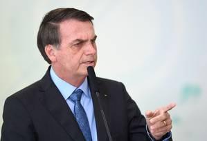 O presidente Jair Bolsonaro 16/08/2019 Foto: EVARISTO SA / AFP