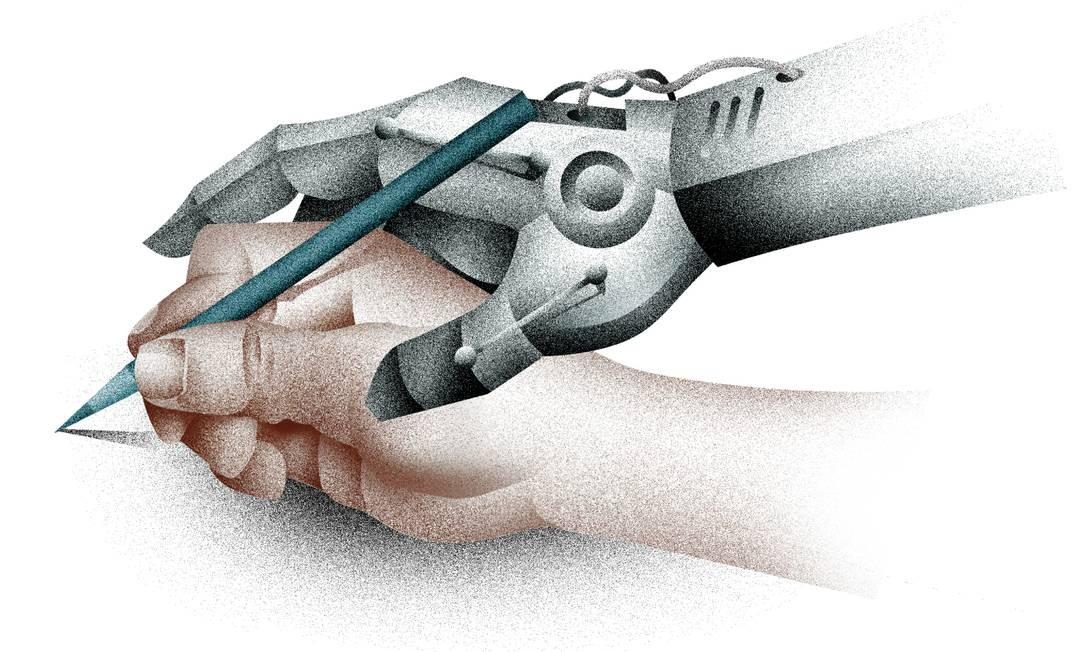 Escritores usam ferramentas de inteligência artificial para vencer bloqueio criativo Foto: Arte