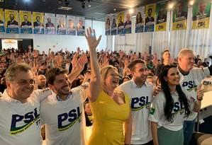 Joice Hasselmann em evento de filiação do PSL em São Paulo Foto: Divulgação