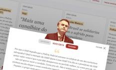 O presidente Jair Bolsonaro Foto: Arte O Globo