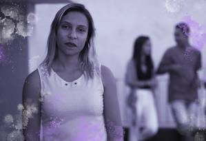 Morghana Linares foi agredida pelo marido durante anos. Ela ainda luta para manter a guarda dos filhos Foto: Arte sobre foto de Edilson Dantas