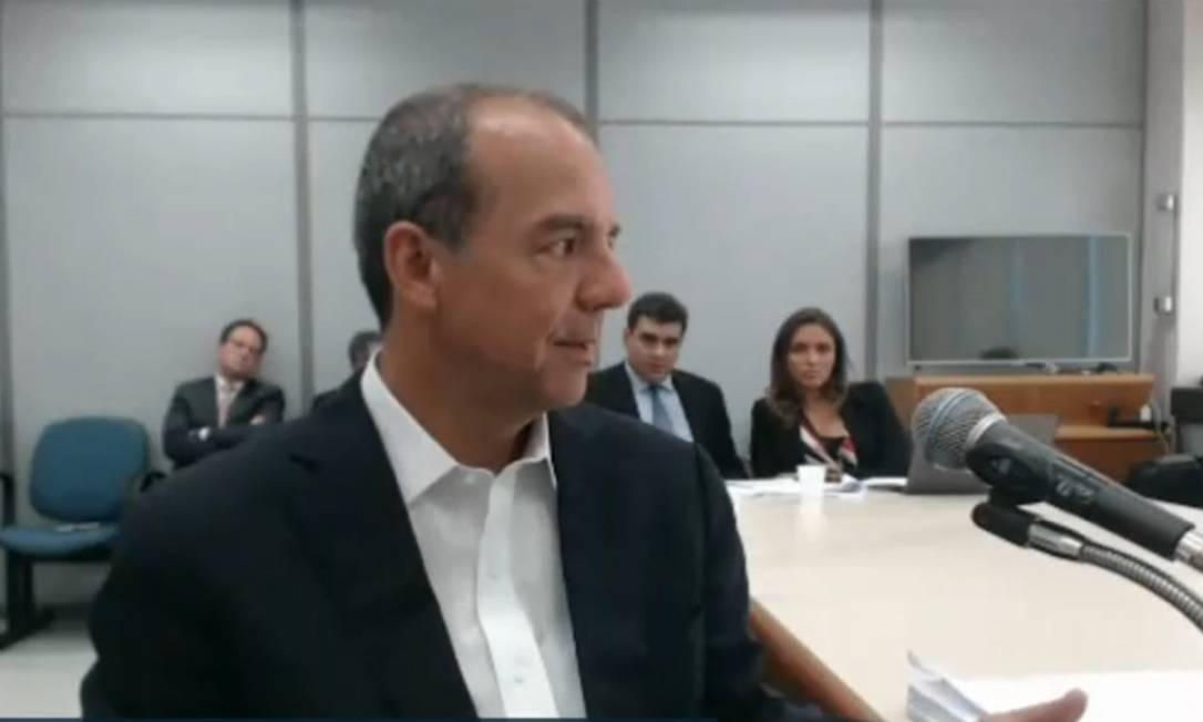 Sérgio Cabral participa de mais uma audiência na Lava Jato Foto: Reprodução/Picasa