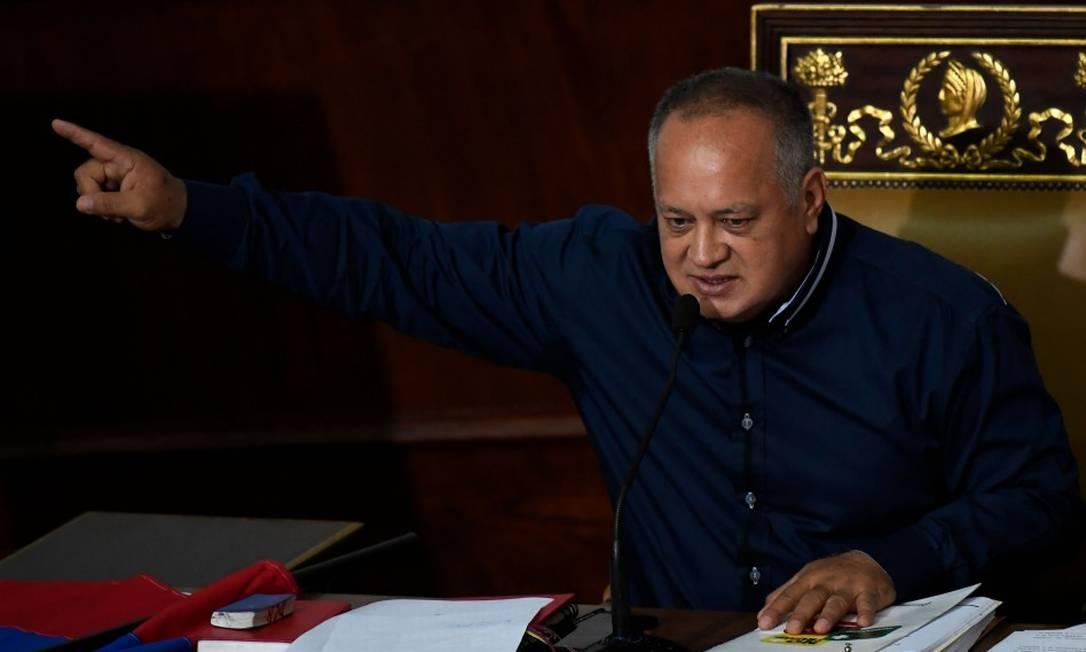 Diosdado Cabello, presidente da Assembleia Nacional Constituinte, teria se encontrado com representantes do governo americano Foto: FEDERICO PARRA / AFP / 12-08-2019