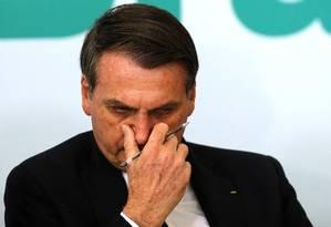 O presidente Jair Bolsonaro Foto: Jorge William / Agência O Globo