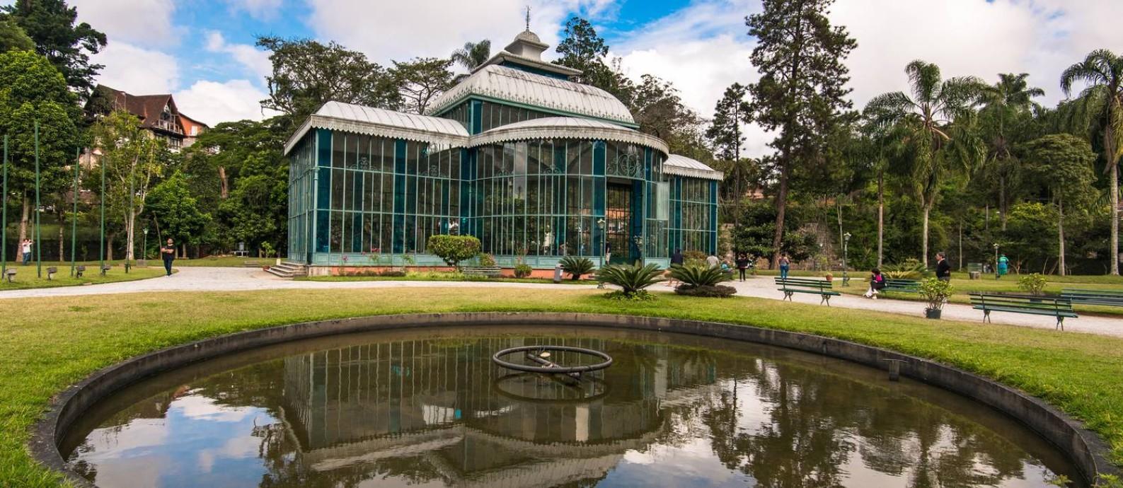 Palácio de Cristal é uma das atrações turísticas de Petrópolis Foto: Deposit Photos