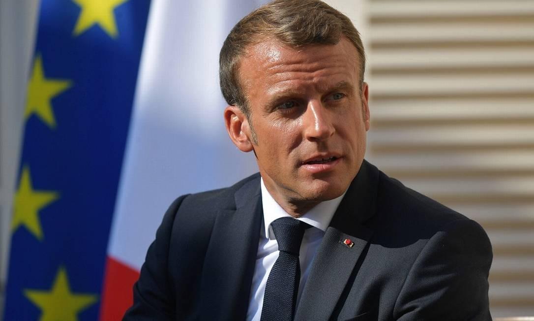"""Macron: """"taxa digital"""" francesa recebe oposição dos EUA. Foto: SPUTNIK / REUTERS"""