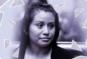 Evelyn Hernández, de 21 anos, foi absolvida de acusação de homicídio após ter bebê morto Foto: Arte sobre foto de Jose Cabezas/Reuters