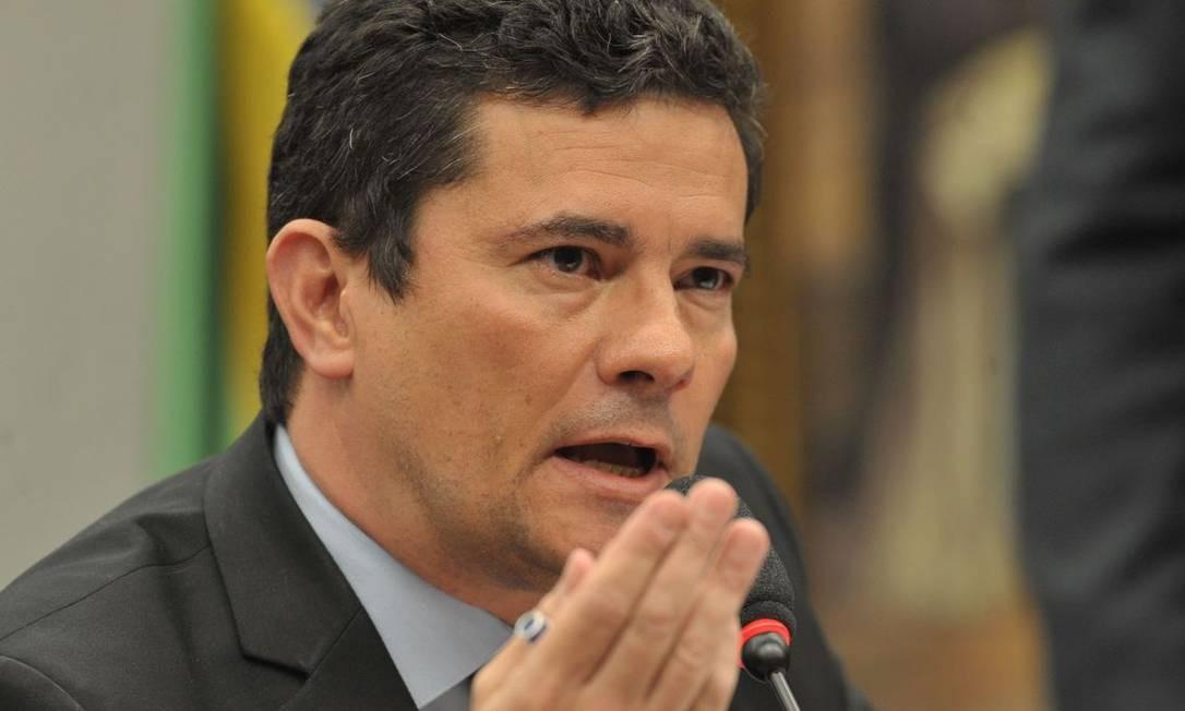 O ministro da Justiça, Sergio Moro, durante audiência pública Foto: Agência Brasil