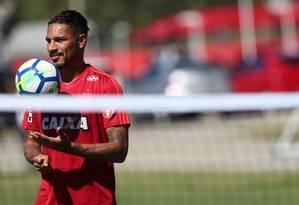 ES Rio de Janeiro (RJ) 13/04/2018 Treino do Flamengo. o atacante Guerrero. Foto Gilvan de Souza / Flamengo Foto: Gilvan de Souza / Agência O Globo