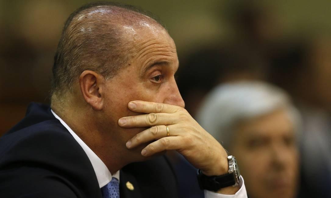 Onyx Lorenzoni Foto: Jorge William/Agência O Globo