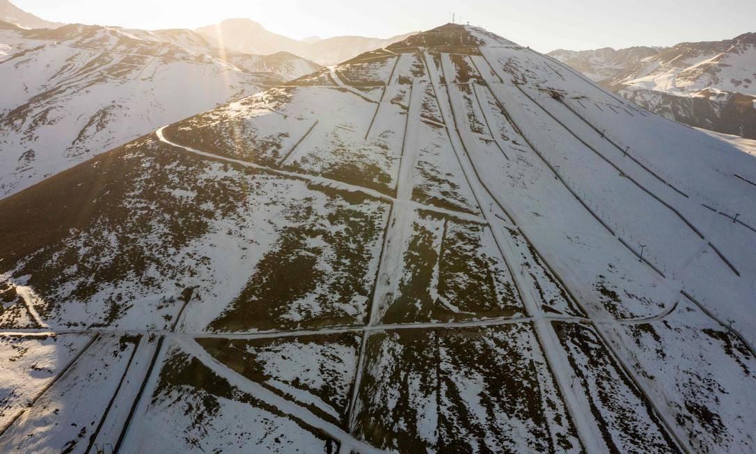 El Colorado, na Cordilheira dos Andes, a 30 km de Santiago Foto: MARTIN BERNETTI / AFP