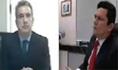 O ex-vice-presidente jurídico da Odebrecht Maurício Ferro em depoimento a Sergio Moro Foto: Reprodução
