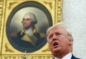 Trump anuncia medida que permitirá a detenção de famílias imigrantes por prazo indefinido Foto: Kevin Lamarque / REUTERS / 20-08-2019