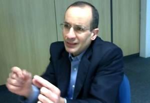 Marcelo Odebrecht em um dos depoimentos de sua delação premiada Foto: Agência O Globo