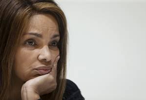 Deputada federal Flordelis em entrevista coletiva realizada em 25/06/2019 Foto: Marcelo Theobald / Agência O Globo