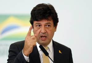 O ministro da Saúde, Luiz Henrique Mandetta, é favorável à importação e ao registro de medicamentos à base de canabidiol Foto: Jorge William / Agência O Globo